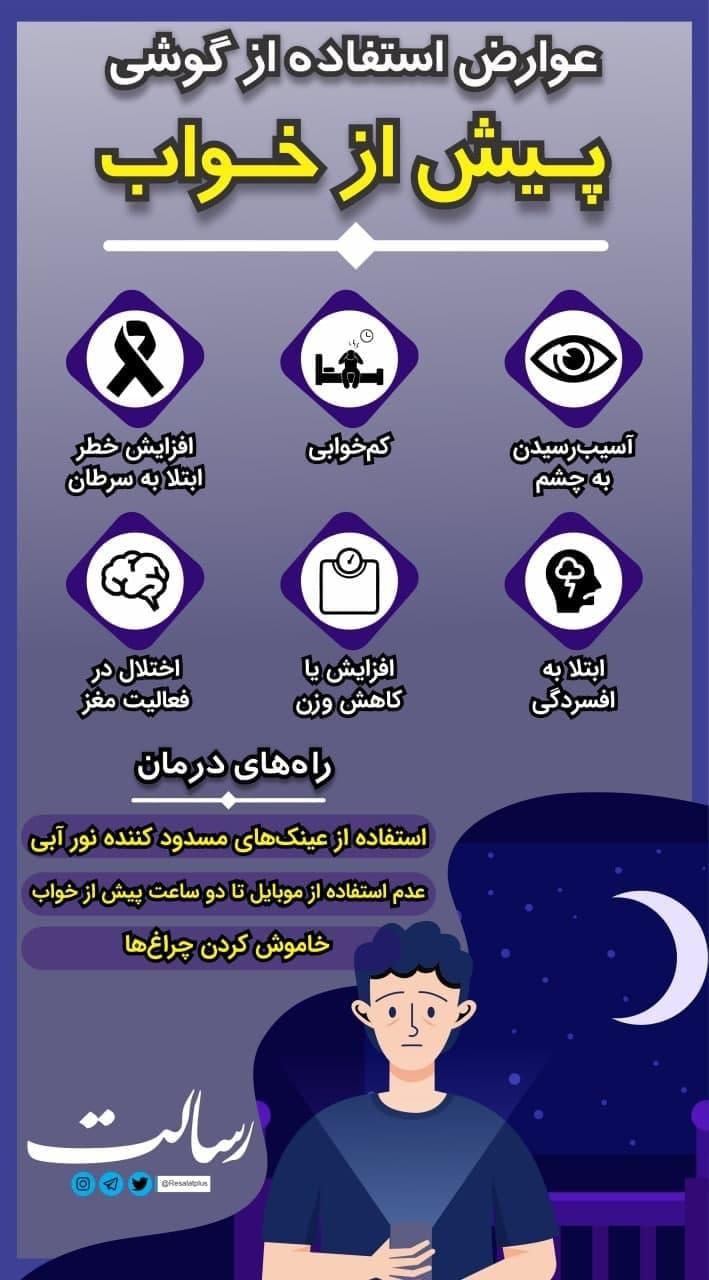 عوارض استفاده از گوشی پیش از خواب