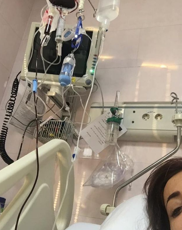بیماری عجیب نفیشه روشن روی تخت بیمارستان+عکس