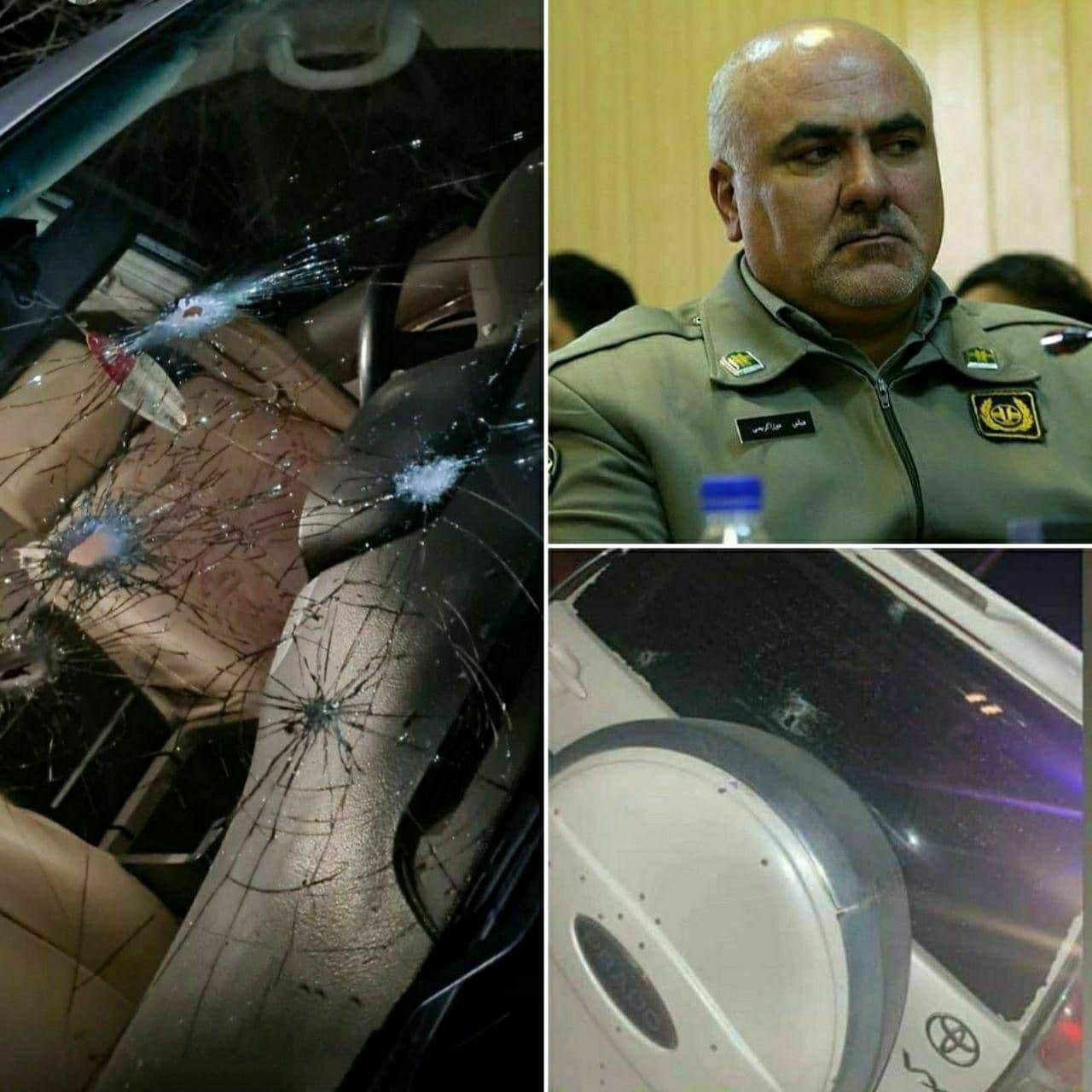 خودروی محیط بان تهرانی پس از ترور +عکس
