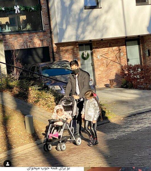شاهرخ استخری و دخترهایش در خارج از کشور