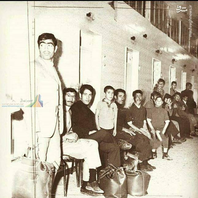 صف حمام نمره در تهران قدیم+عکس