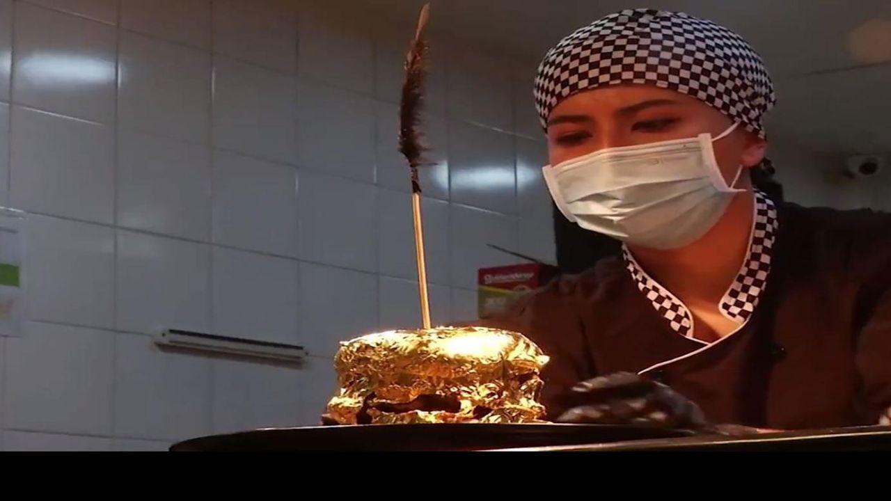 عرضه همبرگر طلایی در رستورانهای پایتخت کلمبیا +عکس