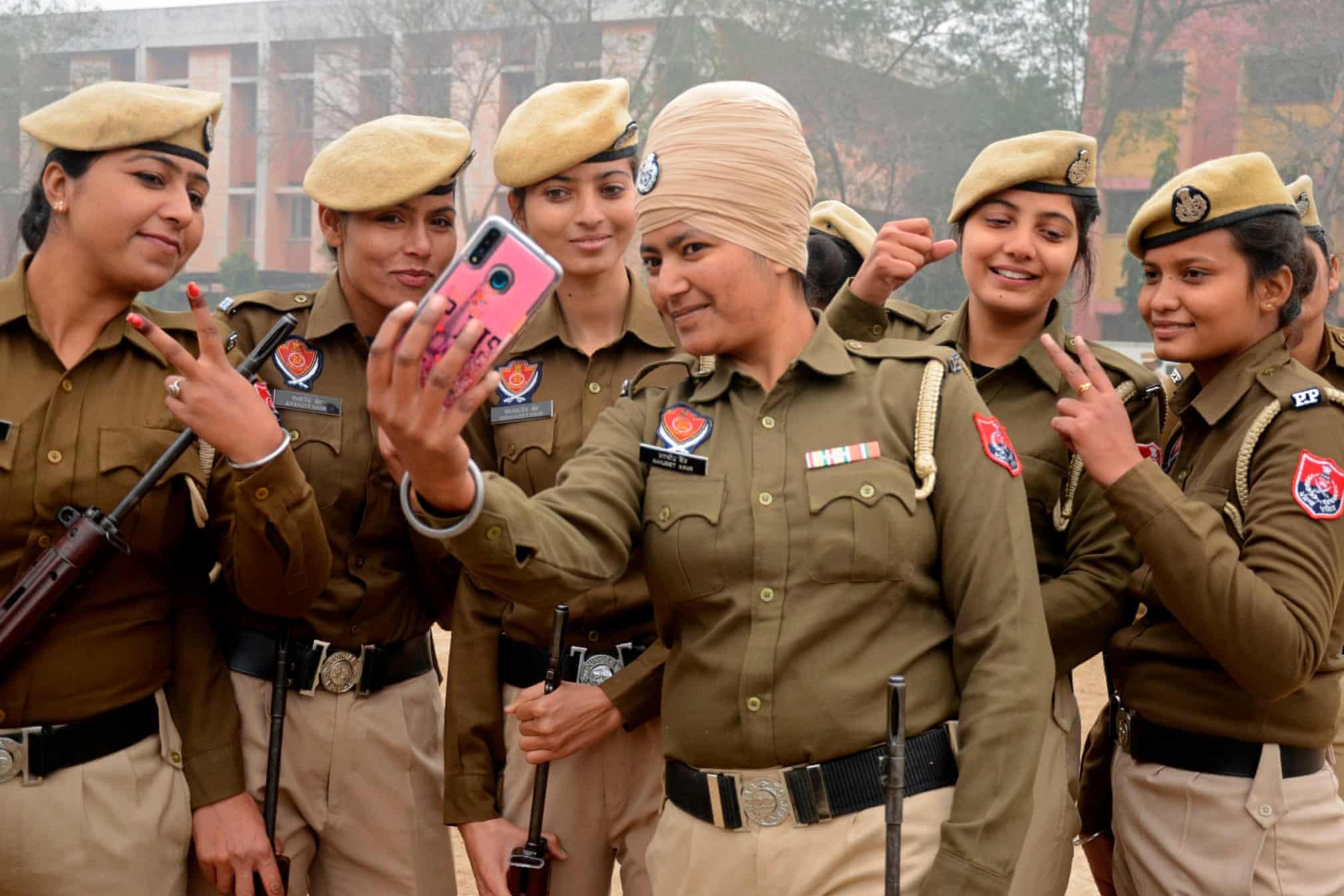 بانوان پلیس در هند +عکس