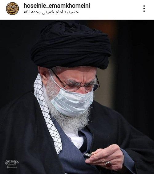 تصویری از رهبر انقلاب در حسینیه امام خمینی