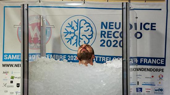 رکوردشکنی مرد یخی