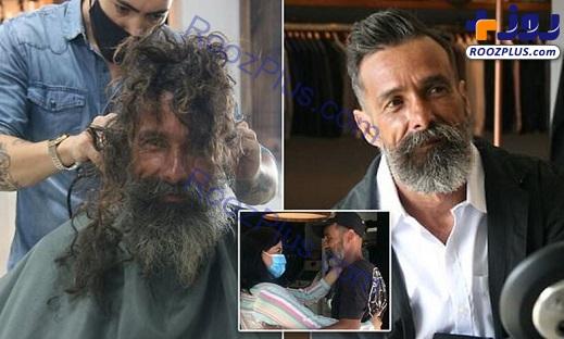 مرد فقیر و بی خانمانی که مدل شد+عکس