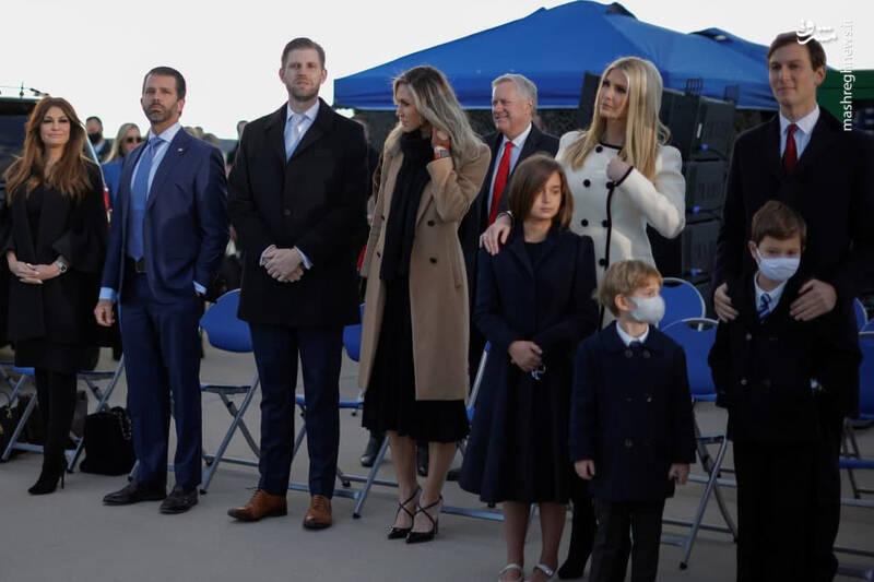 خانواده ترامپ در پایگاه شکاری «اندروز» +عکس