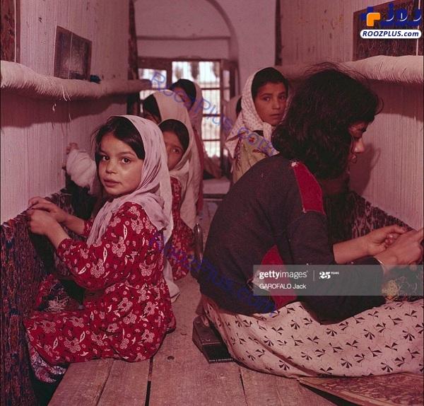 دختران قالیباف در اصفهان شصت سال قبل
