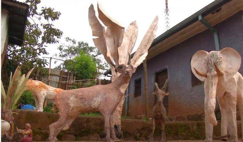 مجسمههای کاغذی جوان آفریقایی خبرساز شد +تصاویر
