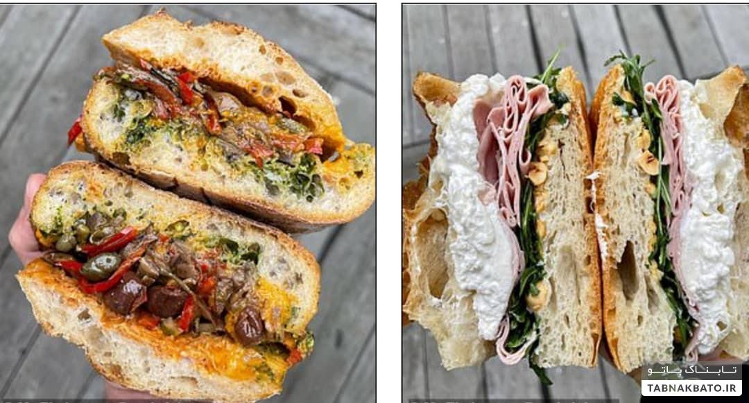 ساندویچ لاکچری استیک با ورقه های طلا به قیمت ۵۰ پوند