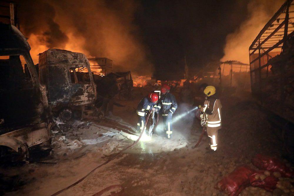 عملیات اطفای حریق آتش نشانان مشهدی در افغانستان + عکس