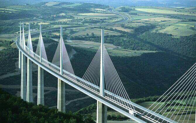 بزرگترین پل کابلی جهان در فرانسه + عکس