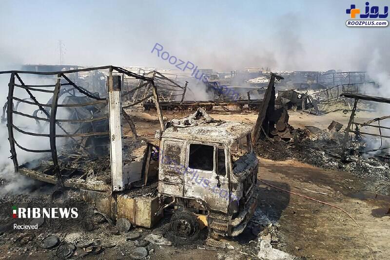 وضعیت گمرک اسلام قلعه یک روز بعد از آتش سوزی+عکس