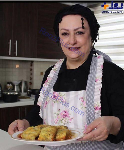 خانم بازیگر معلم آشپزی شد+عکس