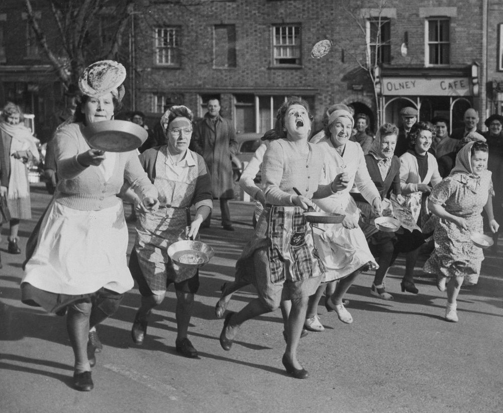 پنکیک در فرهنگ جهانی دوی پنکیکی در بریتانیا.