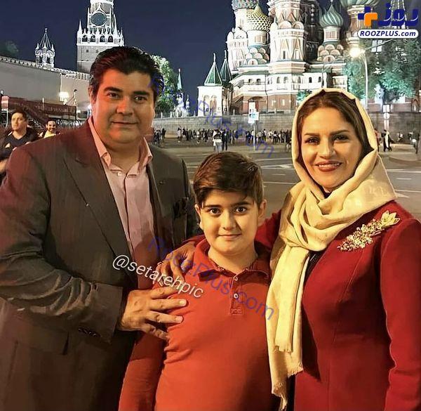 سالار عقیلی و خانواده اش در خارج از کشور + عکس