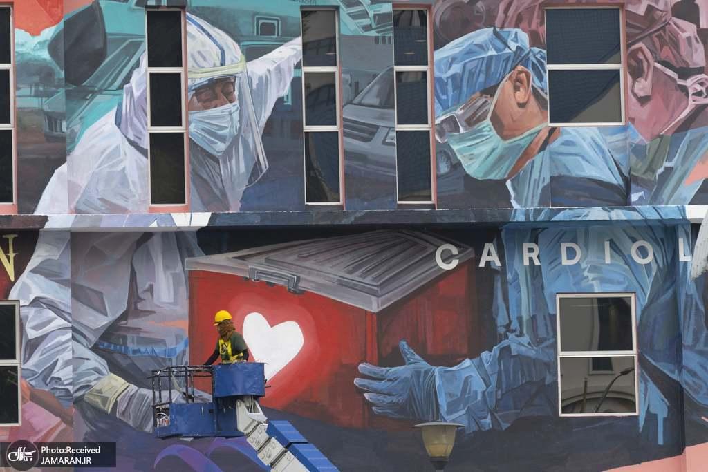 ادای احترام به پرسنل خدماتی و درمانی در کوالالامپور + عکس
