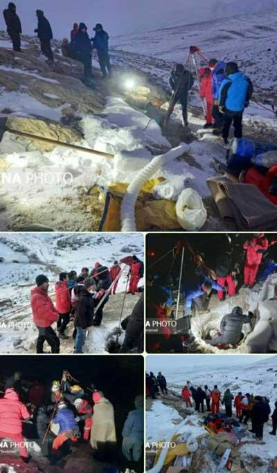 کشف یکی از اجساد ۳گمشده در غار چالدران+عکس