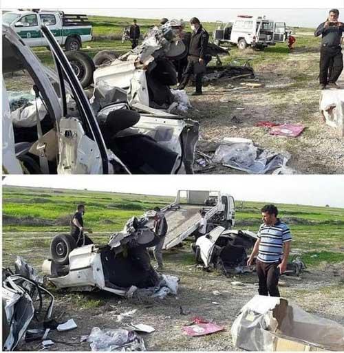 خودرویی که در تصادف نصف شد
