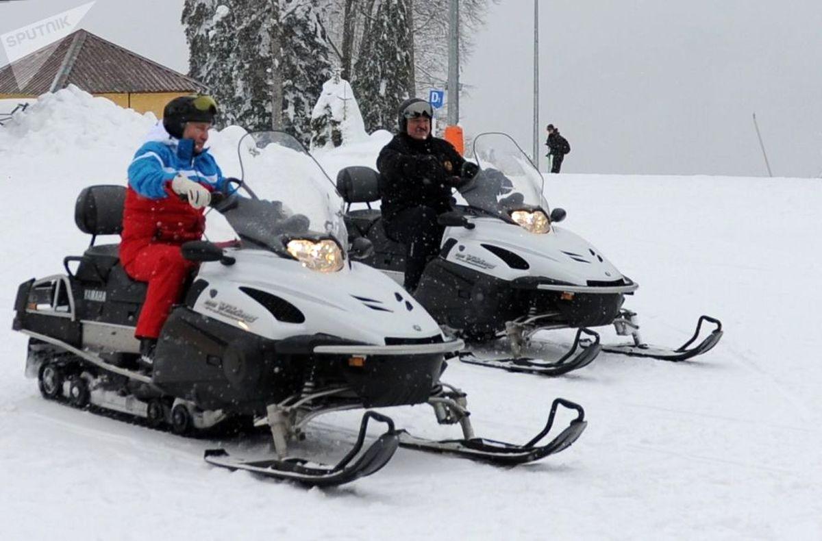 تفریح زمستانی پوتین در سرمای روسیه+ عکس