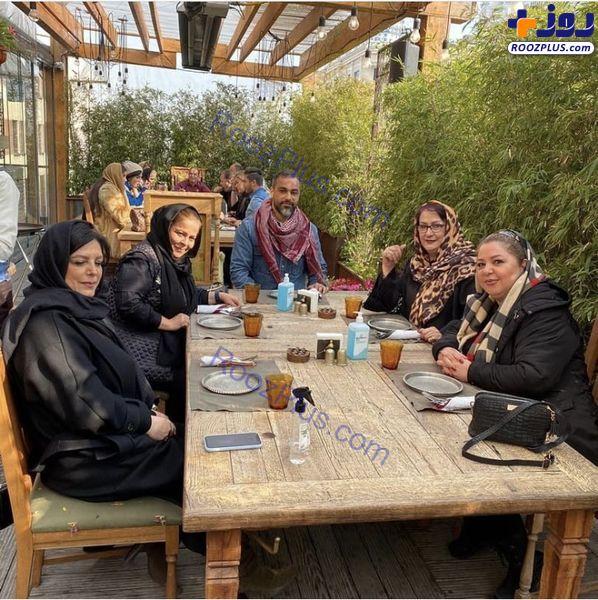 دورهمی کرونایی مریم امیرجلالی با دوستانش+عکس
