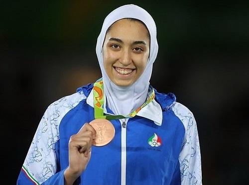 حضور کیمیا علیزاده در تیم پناهندگان المپیک