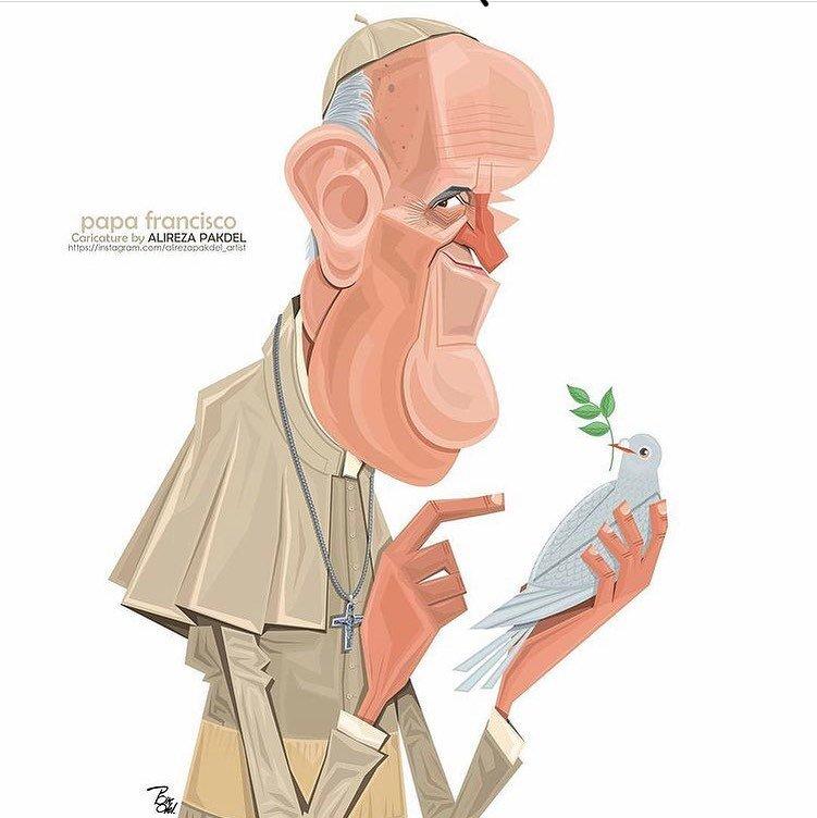 پاپ فرانسیس با کبوتر سفید + عکس