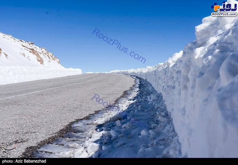 عکسی جالب از ارتفاع برف در لرستان