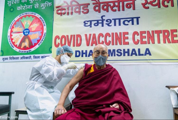 دالایی لاما واکسن کرونا را دریافت کرد + عکس