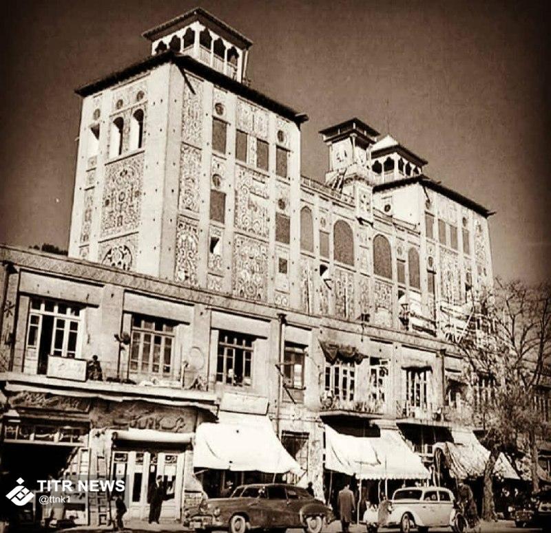 عکس قدیمی از شمس العماره کرمانشاه