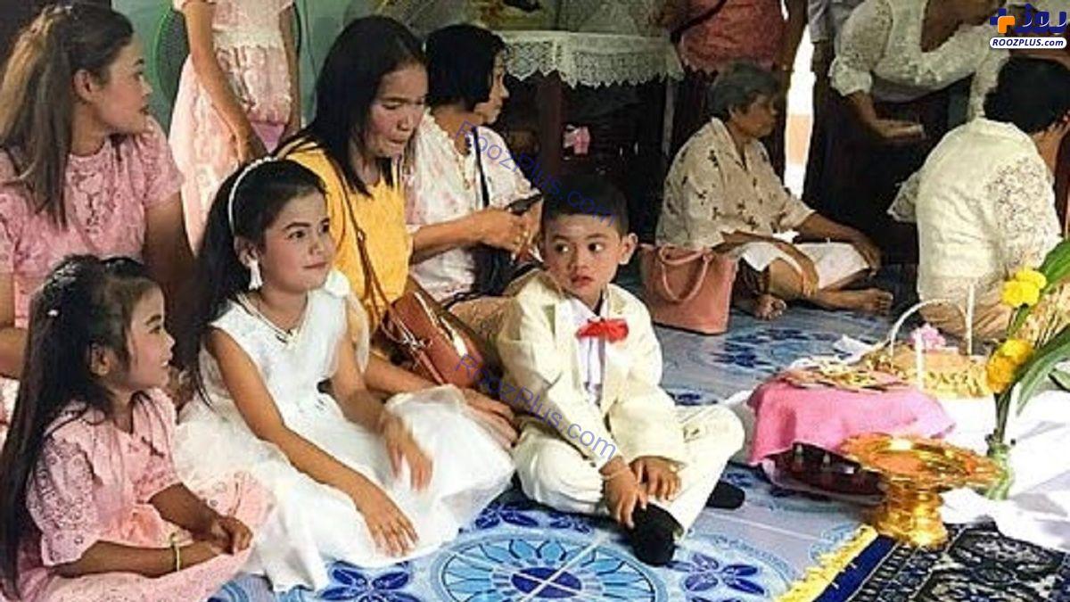 ازدواج دوقلو های ۵ ساله سوژه شد +عکس
