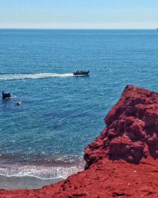 ساحل سرخ جزیره هرمز + عکس