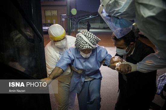 جابهجایی بیماران در پیک کرونای خوزستان+عکس