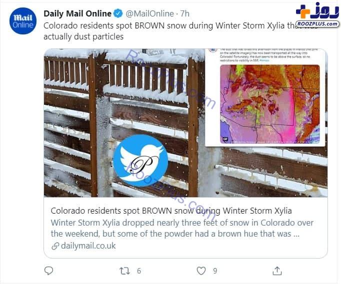 بارش برف قهوهای در کلرادوی آمریکا +عکس