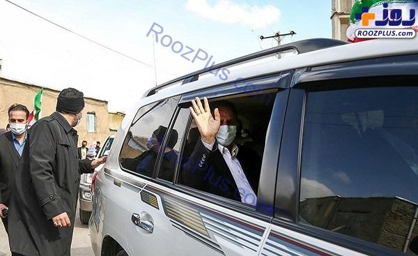 خودروی اسحاق جهانگیری در سفر کردستان+عکس