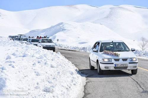 برف در سربند استان مرکزی (عکس)