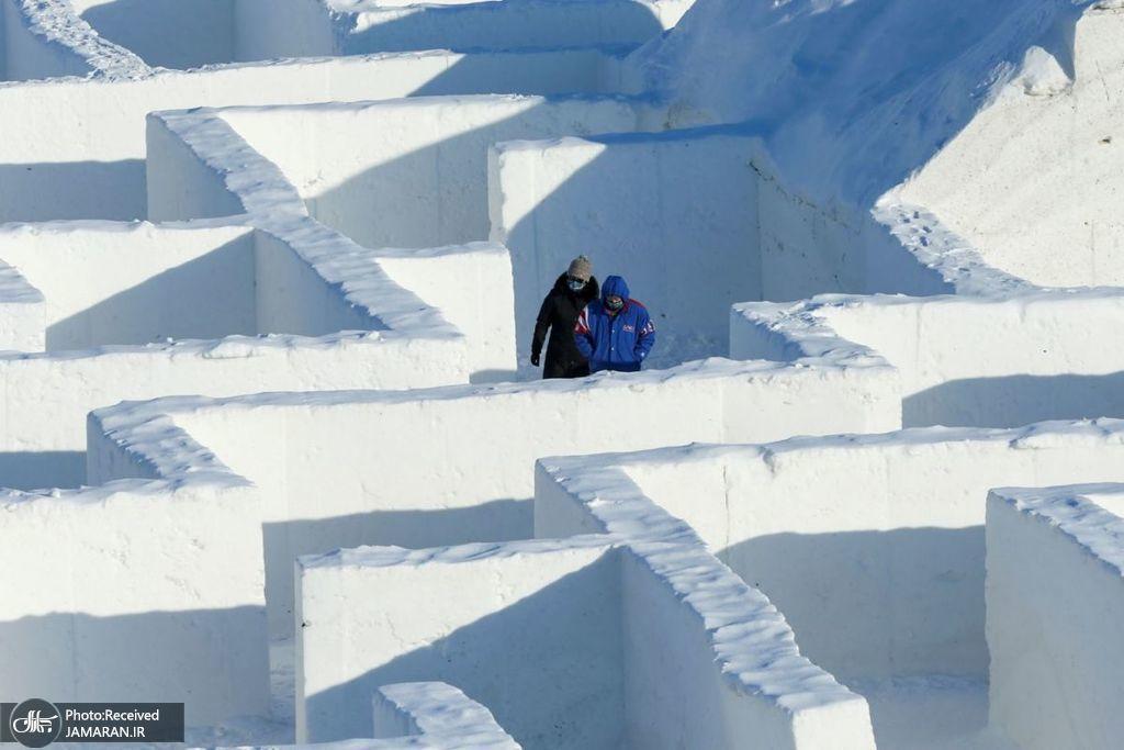 ساخت بزرگترین پیچ و خم برفی جهان در کانادا + عکس