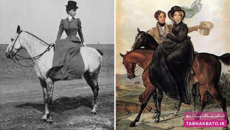 اسب سواری عجیب زنان در قدیم