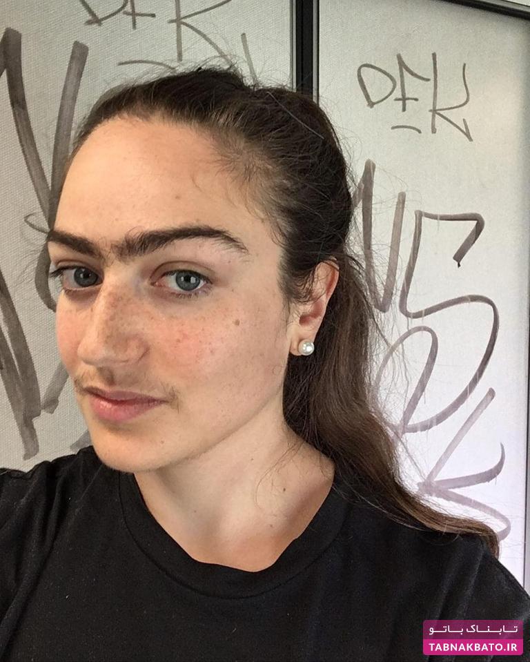 نظرات جالب دختر سبیلدار دانمارکی درباره اصلاح صورت