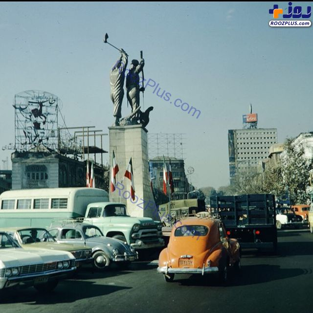 چهارراه مخبرالدوله تهران در اواخر دهه ۴۰ +عکس