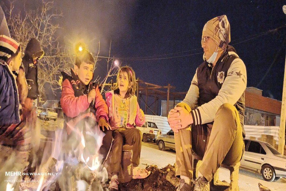 کودکان در سردی ناجوانمردانه شب های سی سخت + عکس