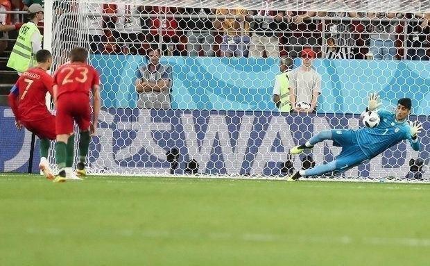 هنرنمایی بیرانوند برابر رونالدو، نامزد برترین عکس AFC شد +عکس