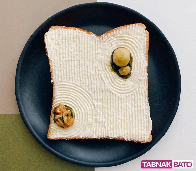 خلق آثار هنری با نان تست، چاقو و سوزن