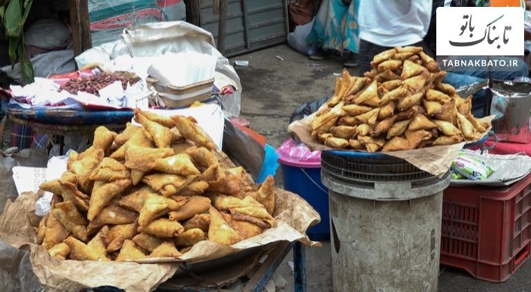 سمبوسه غذای محبوب مردم در سرزمین آتشفشانها