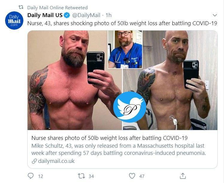 پرستاری که بعد از ۵۷ روز مبارزه با کرونا ۲۲ کیلو کم کرد +عکس