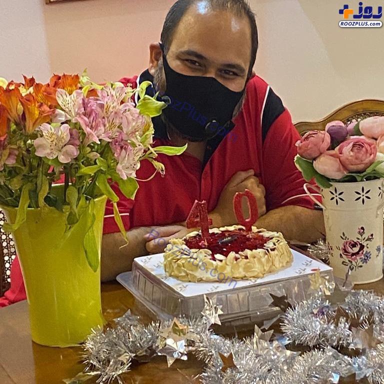 تولد چهل سالگی بازیگر معروف در شرایط کرونایی+عکس