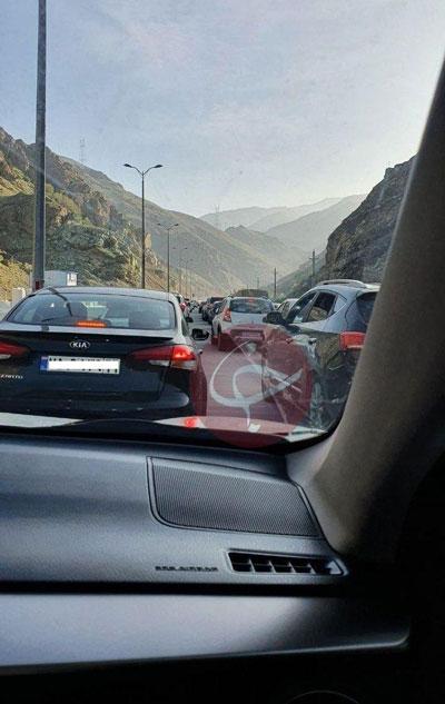 ترافیک سنگین در جاده چالوس+عکس