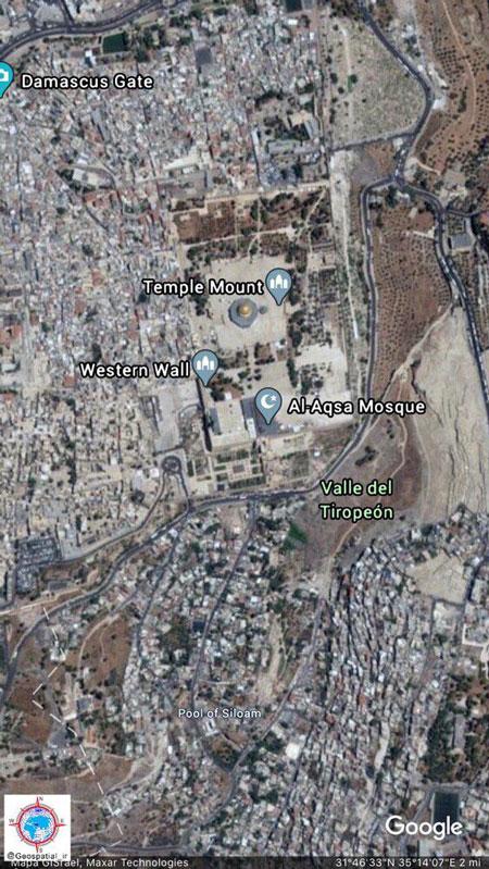 تصویر هوایی از مسجدالاقصی در بیتالمقدس
