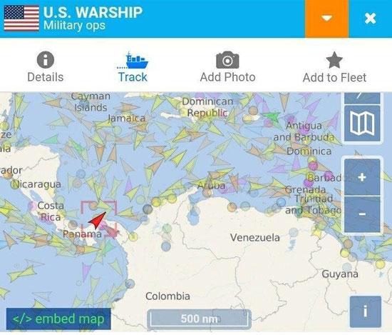 کشتی جنگی آمریکا راهی کارائیب شد+عکس