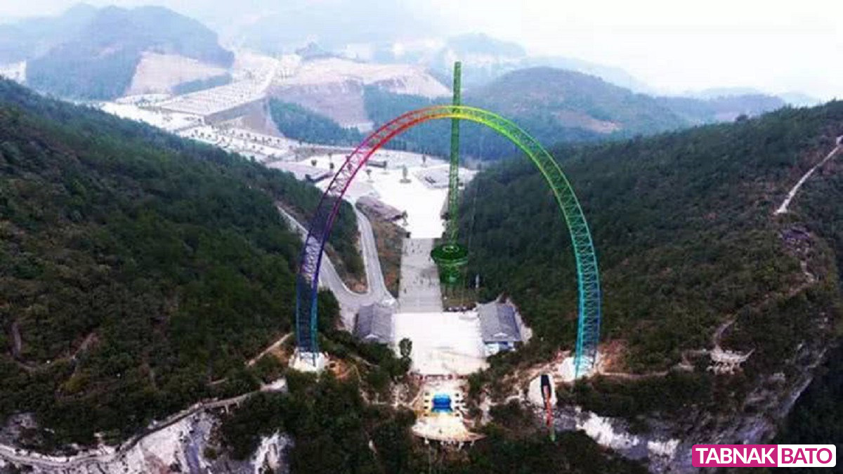 هیجان انگیزترین چرخ و فلک جهان در چین